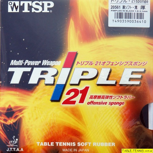 TSP Triple 21 (offensive sponge) накладка для настольного теннис